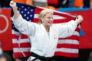 Gold medalist Kayla Harrison of the United States in the Women's -78 kg Judo on Day 6 of the London 2012 Olympic Games at ExCeL on August 2, 2012 in London, England